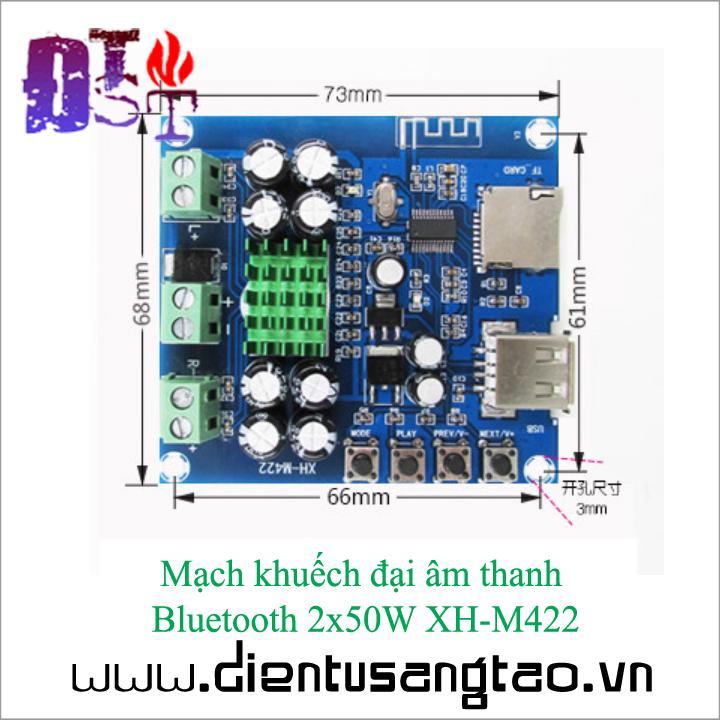 Mạch khuếch đại âm thanh   Bluetooth 2x50W XH-M422 5