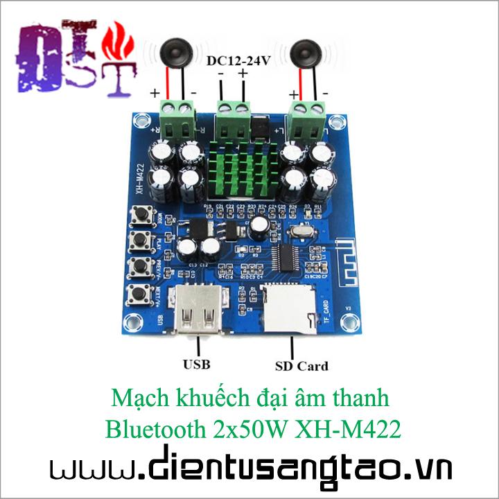 Mạch khuếch đại âm thanh   Bluetooth 2x50W XH-M422 2