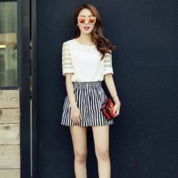 Sét nguyên bộ áo và quần sọc nhập khẩu Quảng Châu-Shop LucyLucy250