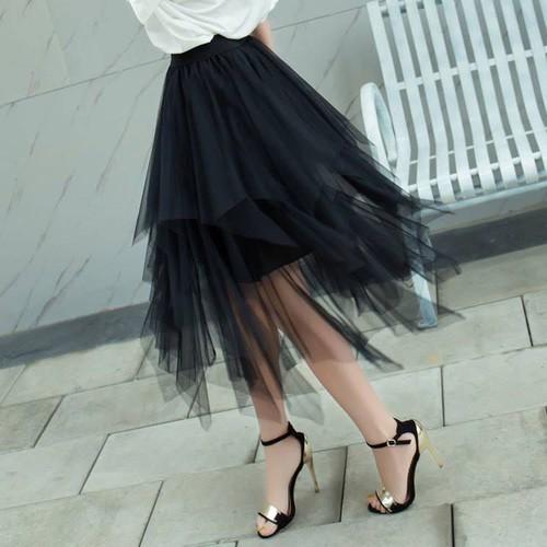 Chân váy lưới tầng xinh