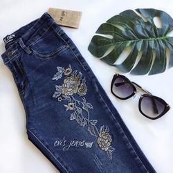 quần jeans thêu