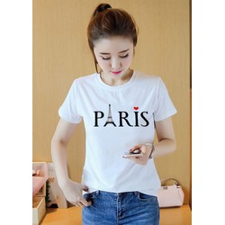 Áo thun nữ in hình PARIS K586