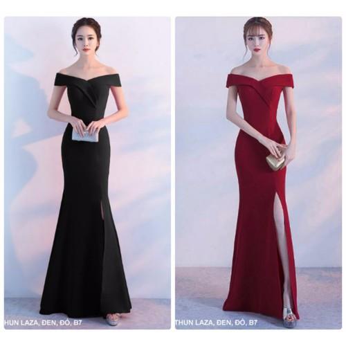 Đầm dạ hội trễ vai cao cấp