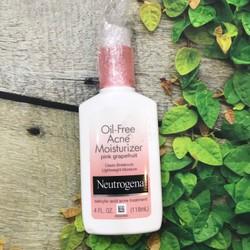 kem dưỡng trị mụn Neutrogena Oil Free Acne Moisturizer Pink Grapefruit