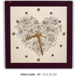 Đồng hồ tranh treo tường Hoa tình yêu