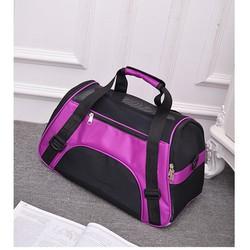 Túi vận chuyển chó mèo dạng vải - Túi đựng chó mèo từ 1 đến 8kg Tím