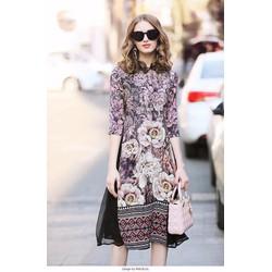 Set áo hoa + váy xòe