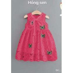 Đầm ren bé gái bướm xinh diện mùa xuân hàng vnxk
