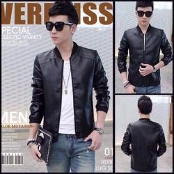 Áo khoác da nam thời trang, kiểu dáng sành điệu mẫu Hàn