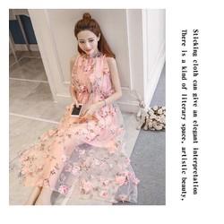 Đầm ren hoa hồng cao cấp hàng thiết kế