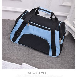 Túi vận chuyển chó mèo dạng vải - Túi đựng chó mèo từ 1 đến 8kg Xanh