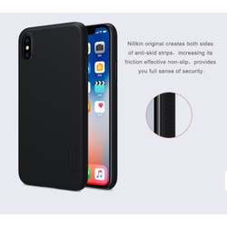 Ốp lưng cho iPhone X Nillkin chính hãng + Miếng dán màn hình