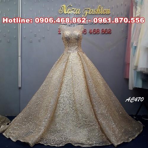 Áo cưới ren kim tuyến, áo cưới mới 2018
