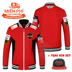 Áo khoác SKT T1 2017 Mới màu đỏ - Tặng nón SKT và Miễn phí ship