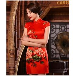 Đầm ôm in hoa 3D đẹp nổi bật D573