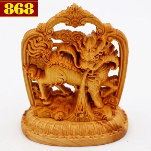 Tượng Tỳ Hưu 8.5 cm gỗ hoàng đàn