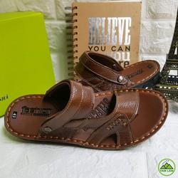Dép da bò đế khâu giá lẻ bằng Giá Sỉ- Xưởng giày Tam Lâm