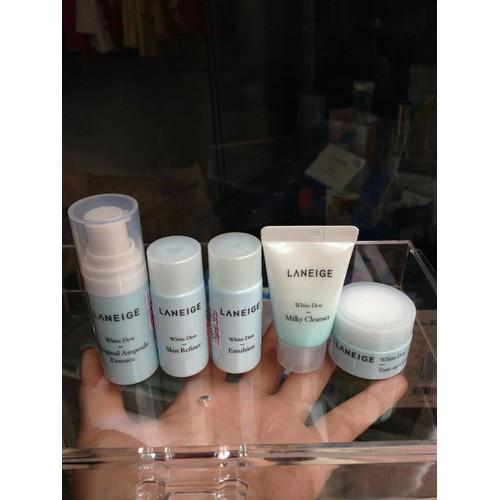 Set 5 món dưỡng trắng da Laneig-e White Dew special kit