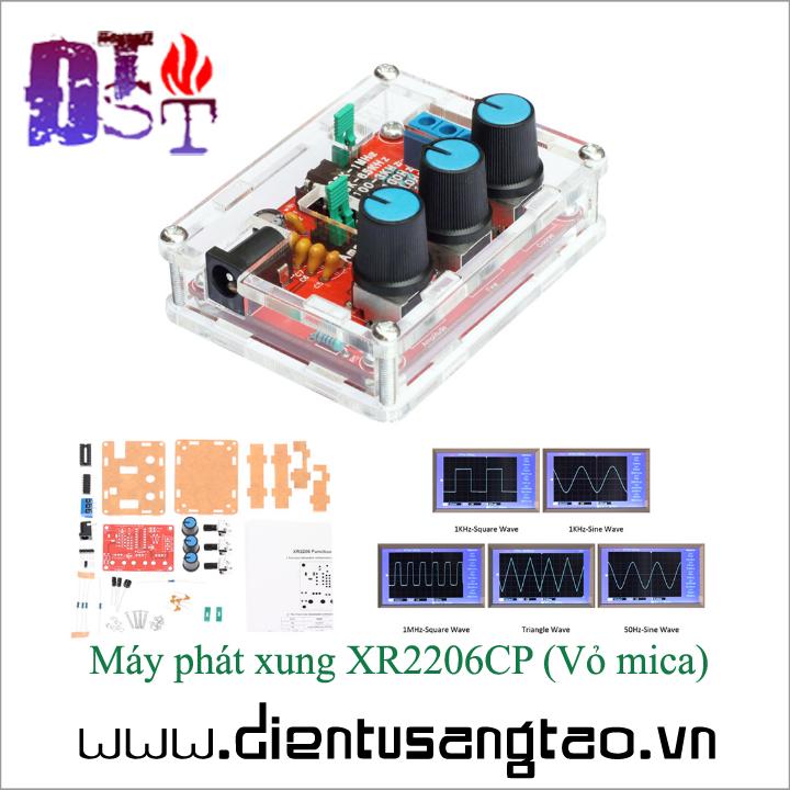 Máy phát xung XR2206CP Vỏ mica Tự ráp 1