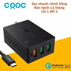 Sạc nhanh Quick Charger 3.0 COOC Smart PA-T14