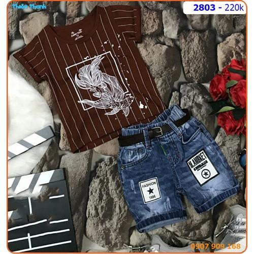 SIZE ĐẠI_Set quần jean áo thun sọc cá vàng mạnh mẽ cho bé - 2803 - 5188001 , 8544338 , 15_8544338 , 220000 , SIZE-DAI_Set-quan-jean-ao-thun-soc-ca-vang-manh-me-cho-be-2803-15_8544338 , sendo.vn , SIZE ĐẠI_Set quần jean áo thun sọc cá vàng mạnh mẽ cho bé - 2803