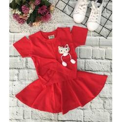 Set áo váy kèm chip cho bé gái xinh iu
