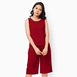 Sét quần lửng áo sát nách màu đỏ