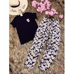 Set QDTN quần kaki hoa
