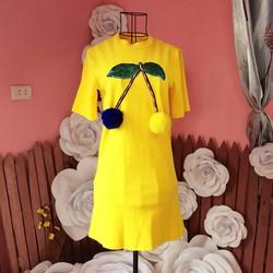 Váy suông cộc tay thiết kế xinh xắn