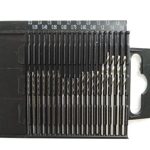 Bộ 20 Mũi Khoan Kim Loại HSS Mini Cao Cấp 0.3-1.6mm