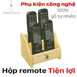 Hộp đựng remote tivi, remote máy lạnh, hộp gỗ TIỆN ÍCH cho gia đình