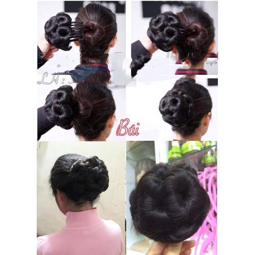 Búi tóc giả hoa kẹp búi tóc người trung tuổi