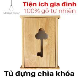 Tủ gỗ treo chìa khoá - móc treo chìa khoá tiện lợi