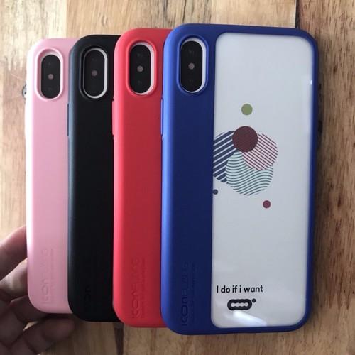 Ốp lưng Iphone X lưng trong suốt viền mềm Iconflang chính hãng