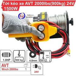 Tời điện kéo xe ATV 2000LBS - 24V