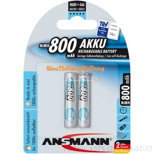 Pin sạc AAA ANSMANN 1.2v Ni-Mh 800mAh Micro HR03 BL2 vỉ 2 viên - 10563383 , 8537025 , 15_8537025 , 80000 , Pin-sac-AAA-ANSMANN-1.2v-Ni-Mh-800mAh-Micro-HR03-BL2-vi-2-vien-15_8537025 , sendo.vn , Pin sạc AAA ANSMANN 1.2v Ni-Mh 800mAh Micro HR03 BL2 vỉ 2 viên