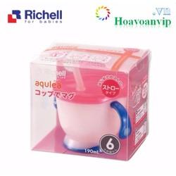 Cốc tập uống 3 giai đoạn Richell VRC41011 Tay Xanh