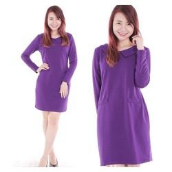 GIẢM SỐC 3 NGÀY VÀNG - Đầm suông cotton cổ peterpan