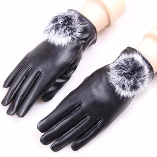 Gang tay da lót nỉ cảm ứng cho nữ - 5190578 , 8551500 , 15_8551500 , 45000 , Gang-tay-da-lot-ni-cam-ung-cho-nu-15_8551500 , sendo.vn , Gang tay da lót nỉ cảm ứng cho nữ
