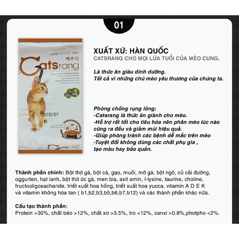 Catsrang-Thức ăn hạt cho mèo mọi lứa tuổi 2 kg 3