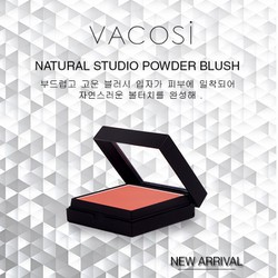 Má hồng Vacosi Natural Studio Powder Blush - Soft Orange #OR06