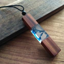 Vòng Cổ May Mắn Dây Chuyền Wood Resin Từ Gỗ Tự Nhiên Cổ Điển - Mộc