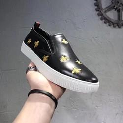 Giày nam lười hình con ong và ngôi sao