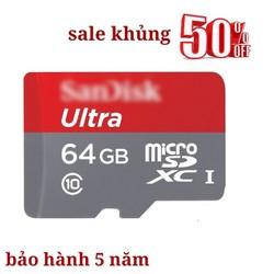 Thẻ nhớ Ultra 64GB giá rẻ nhất việt nam