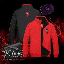 Áo Khoác Dù Nam Cao Cấp 2 Mặt Thêu Ex - Yuna Boutique [Tặng 1 Khẩu Trang Su Dày Kháng Khuẩn Khi Mua]