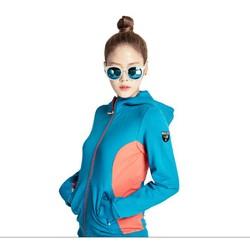 Áo khoác nữ thời trang có nón Xanh biển