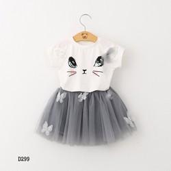 Set áo và chân váy bé gái  hàng Quảng Châu D299