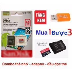 combo thẻ nhớ 64GB
