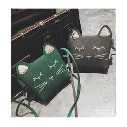 Túi đeo chéo hình mèo đáng yêu cho bé gái