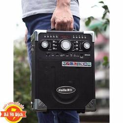 Loa kéo karaoke DAILE S8 có mic bluetooth-Tặng Míc Không Dây